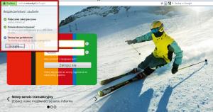 Strona logowania mBank